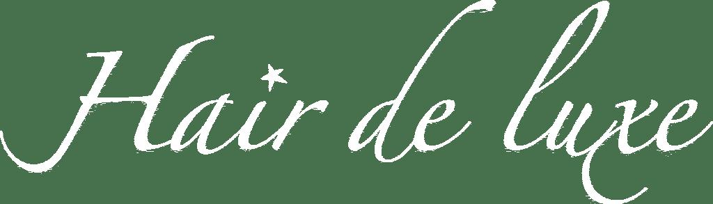 hair de luxe logo hvid rektangel