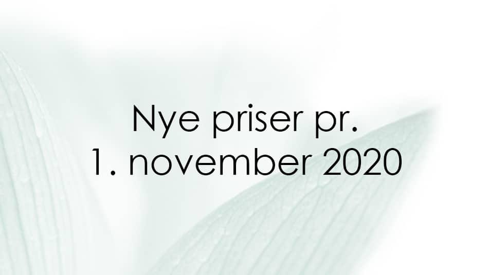 nye priser pr. 1. nov. 2020