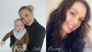 billeder af Sabine og Mason og Christina Nielsen